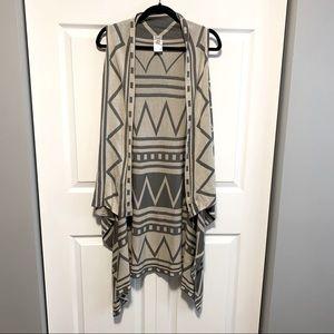 Kismet Aztec Sleeveless Open Cardigan